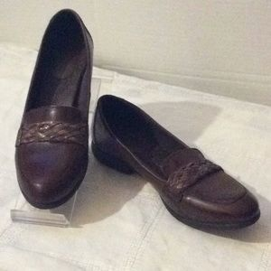 B.O.C brown leather comfortable loafers # 8 W